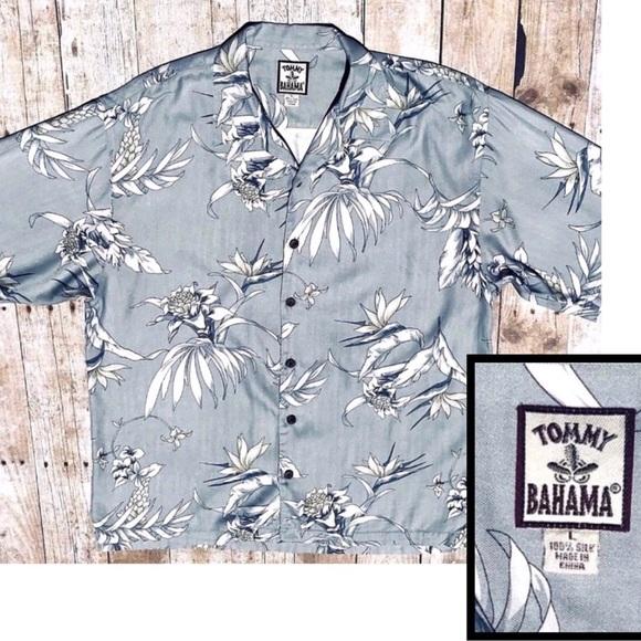 715d1094 Tommy Bahama Mens Hawaiian Shirt 100% Silk Large. M_5b1f766b9539f7bb49569b7a